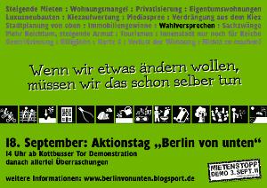 Plakat Berlin von unten