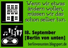'Berlin von unten' Aktionstag