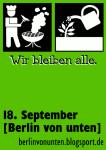 Berlin von unten - Sticker Wir bleiben