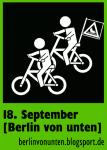 Berlin von unten - Sticker Fahrrad