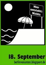 Berlin von unten - Sticker Nichts am Ufer
