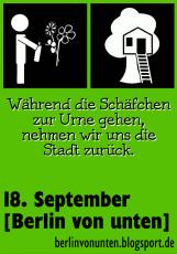 Berlin von unten - Sticker Schäfchen Baumhaus