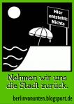 Berlin von unten - Sticker Stadt zurück