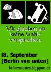 Berlin von unten - Sticker Wahlversprechen